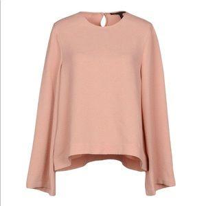 BCBG | blush bell sleeve blouse